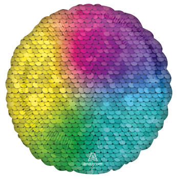 "18""A Round/Circle Sequins Rainbow (10 count)"