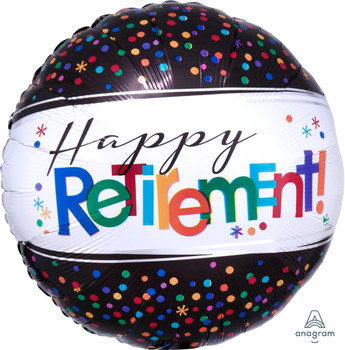 "18""A Happy Retirement, Round (5 count)"