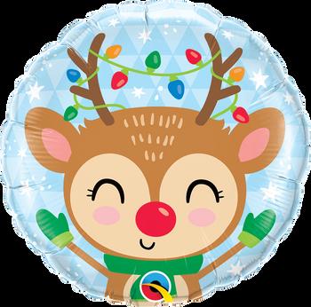 """18""""Q Reindeer & Color Lights (5 count)"""