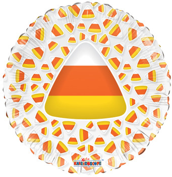 "9""K Halloween Candy Corn Clear View (10 count)"