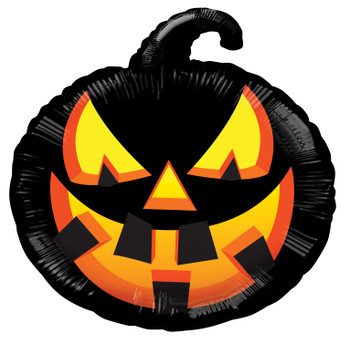 "12""K Halloween Pumpkin Black (10 count)"