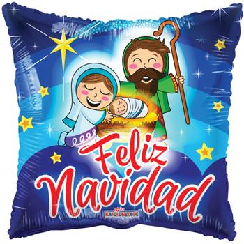 """18""""K Christmas, Feliz Navidad Nacimiento  (10 count)"""