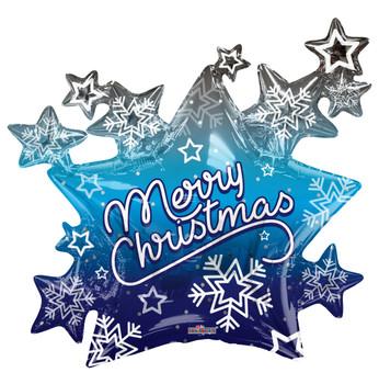 "36""K Christmas, Stars Shape  (5 count)"