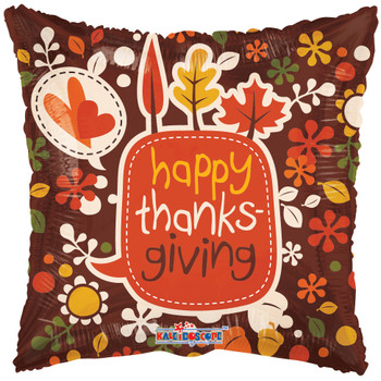 "9""K Happy Thanksgiving Leaves (10 count)"