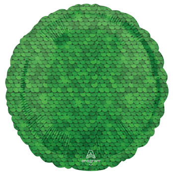 "18""A Round/Circle Sequins Forest Green (10 count)"