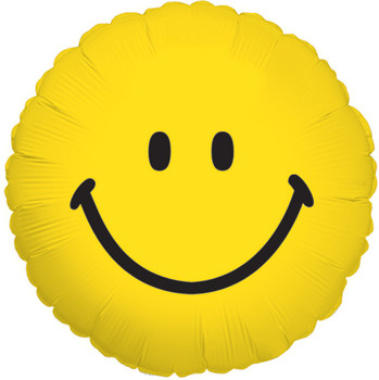 "4""K Smiley Face, Yellow Round (10 count)"
