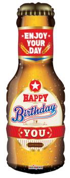 """14""""K Happy Birthday Beer Bottle (10 count)"""