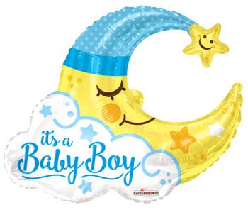 "36""k Baby Boy Moon Shape (5 count)"