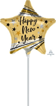 "9""A Happy New Year Bursts and Stars (10 count)"