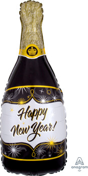 "36""A New Year Champagne Bottle Black (5 count)"