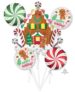 Bouquet Christmas Gingerbread House & Candy (1 count)