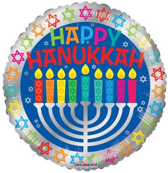 """18""""K Happy Hannukah / Chanukah (10 count)"""