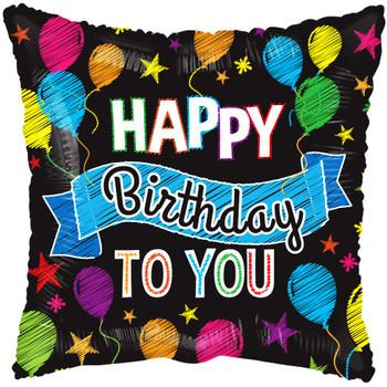 "4""K Happy Birthday Balloons & Banner (10 count)"