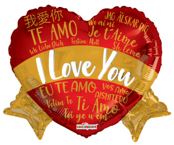 "14""k I Love You Languages Banner (10 count)"