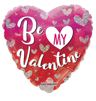 "18""k Be My Valentine Hearts Holographic (10 count)"
