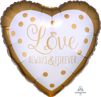 """18""""A Love Always and Forever Gold Wedding (10 count)"""
