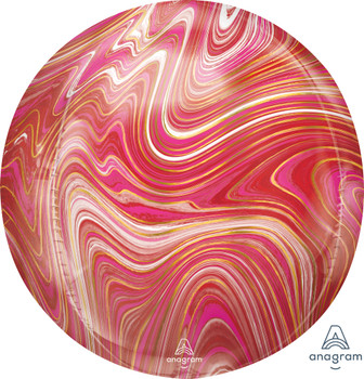 "16""A Orbz Marblez Red and Pink (3 count)"