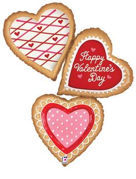 "44""B Happy Valentine's Day  Cookies (5 count)"