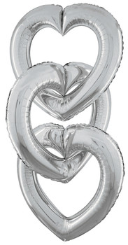 "41""B Linking Heart Silver (5 count)"