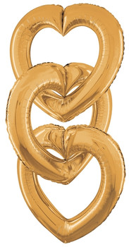 "41""B Linking Heart Gold (5 count)"