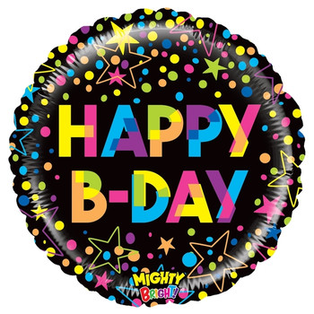 "21""B Happy B-Day Colorful Mighty Bright (10 count)"