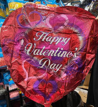 "36""K Happy Valentine's Day Script Hearts and Swirls (5 count)"