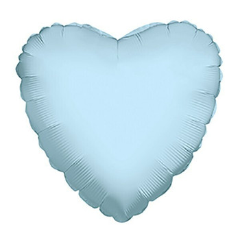 "4""K Heart Light Blue (10 count)"
