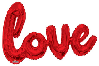 "36""K Script LOVE Red (1 count)"