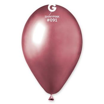 "12""G Maxi Bag SHINY Pink #091 (250 count)"