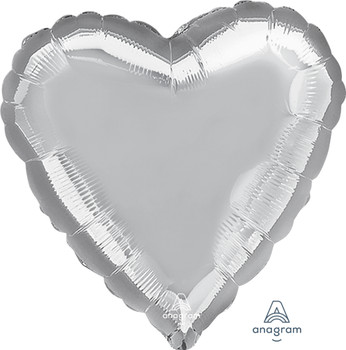 "28""A Heart  Silver (5 count)"