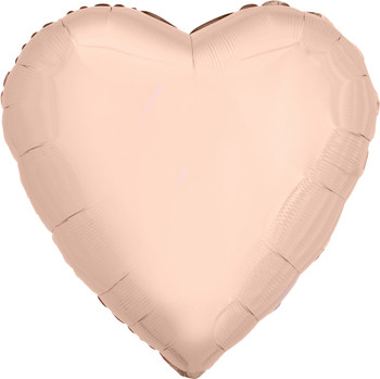 "28""A Heart  Rose Gold (5 count)"