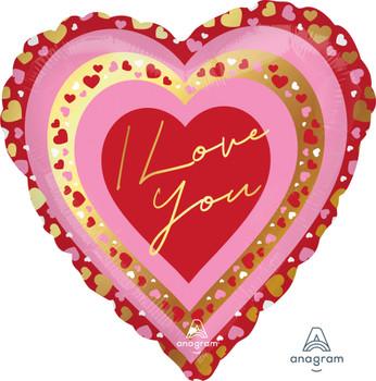 """28""""A I Love You Pretty Hearts (5 count)"""