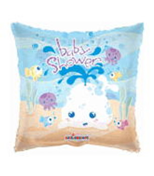 """18""""K Baby Shower Whale Clear (10 count)"""