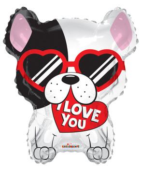 "18""K I Love You Dog (10 count)"