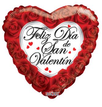 "4""K Feliz Dia De San Valentin Roses (10 count)"