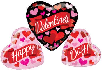 "36""K Happy Valentine's Day Banner & Hearts (5 count)"