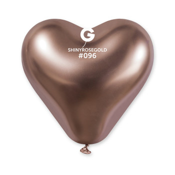 "12""G Shiny Heart Rose Gold #096 (25 count)"