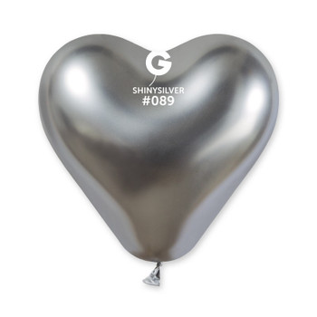 "12""G Shiny Heart Silver #089 (25 count)"