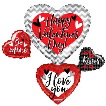 "36""K Happy Valentine's Day Many Hearts (5 count)"