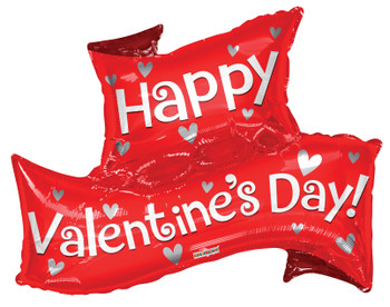 """36""""K Happy Valentine's Day Banner (5 count)"""