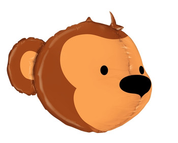 "27""B Animal Monkey Head Dimensional Pkg (1 count)"