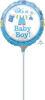 """9""""A It's A Boy Shower With Love (10 count)"""