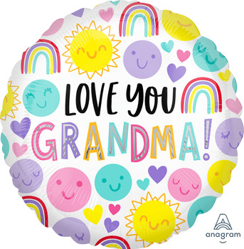 "18""A Love You  Grandma Happy Faces (10 count)"