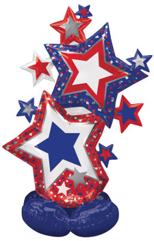 "59""A Airloonz Star Cluster Patriotic Pkg (1 count)"