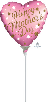 """9""""A Happy Mother's Day Satin Infused Pink (10 count)"""