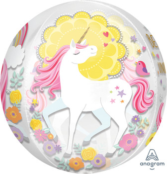"""16""""A Unicorn Magical Clear Orbz (5 count)"""