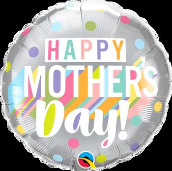 "18""Q Happy Mother's Day Big Pastel Dots Pkg (5 count)"