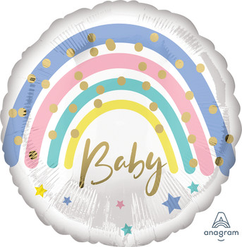 "18""A Baby Pastel Rainbow Pkg (5 count)"