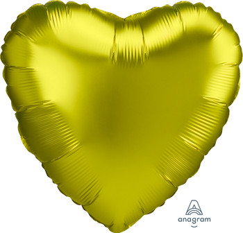 "18""A Heart Satin Luxe Lemon (10 count)"