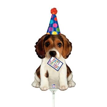 "14""B Happy Birthday Puppy (10 count)"